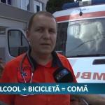 ALCOOL + BICLICLETĂ = COMĂ – VIDEO