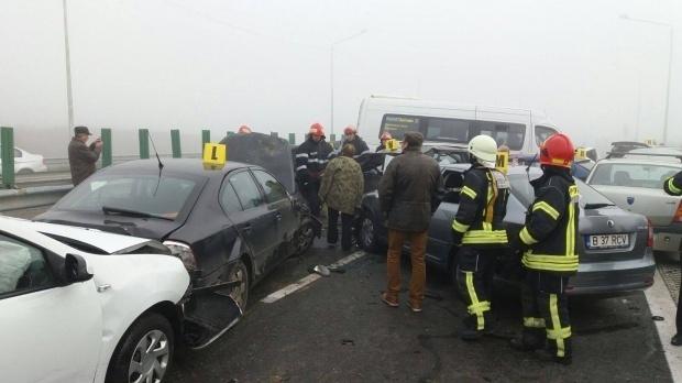 ACCIDENT ÎN LANȚ PE AUTOSTRADA SOARELUI