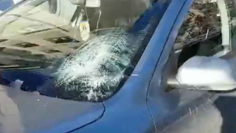 MAȘINĂ AVARIATĂ DE ȚURȚURI – VIDEO!