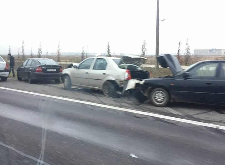 ACCIDENTE ÎN LANȚ PE A1!