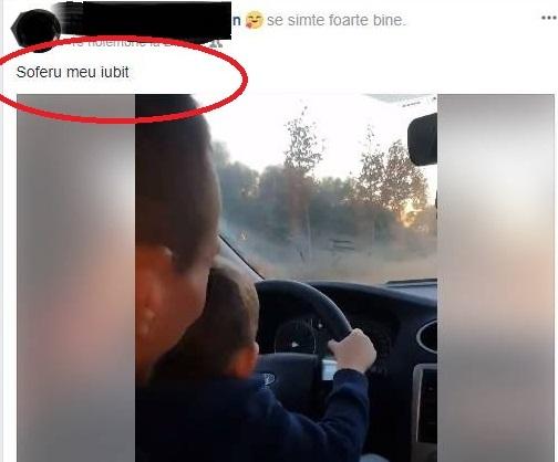 ȘI-A PUS COPILUL DE CÂȚIVA ANIȘORI LA VOLAN – VIDEO!