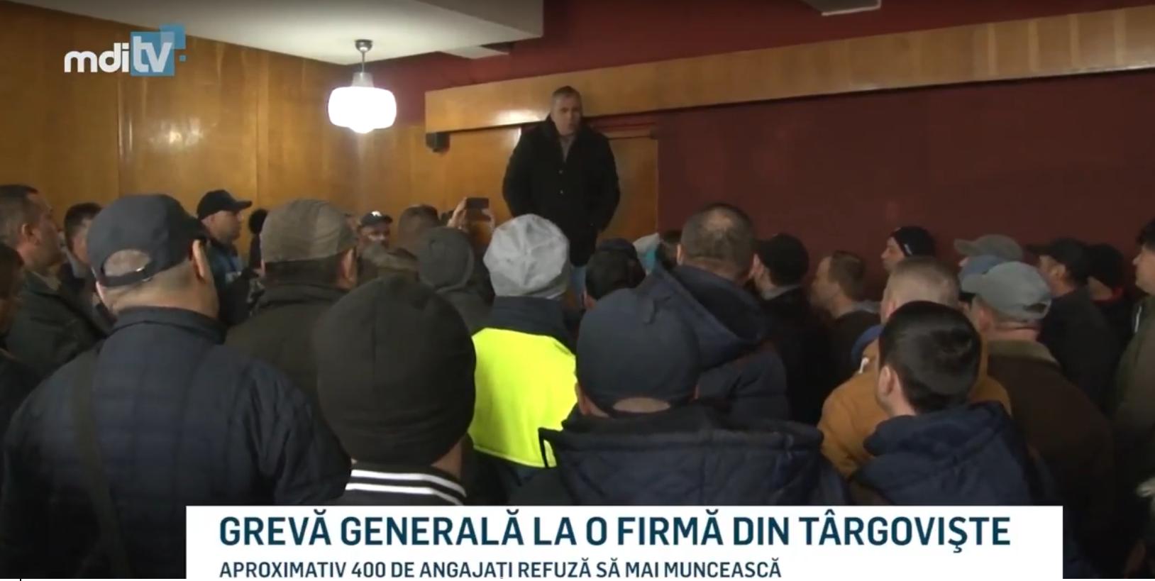 GREVĂ GENERALĂ LA O FIRMĂ DIN TÂRGOVIŞTE