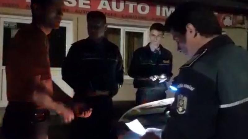 SCANDAL CU POLIȚIA  PE O STRADĂ DIN ALEXANDRIA! VIDEO!