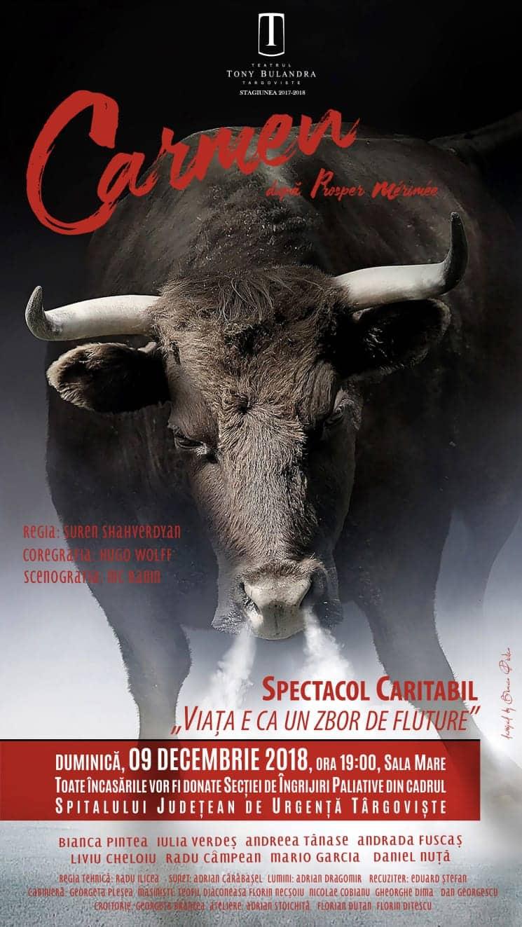 """SPECTACOL CARITABIL LA TEATRUL """"TONY BULANDRA"""", PENTRU SECȚIA DE ÎNGRIJIRI PALEATIVE"""