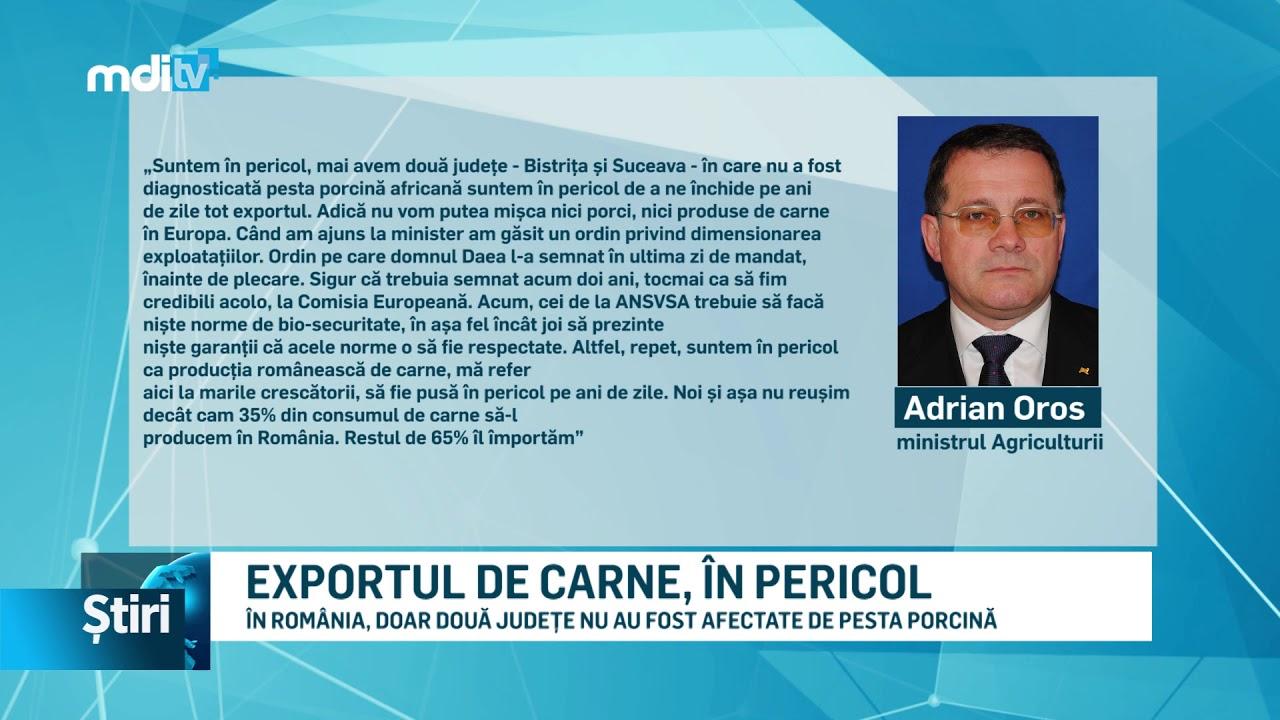 EXPORTUL DE CARNE, ÎN PERICOL
