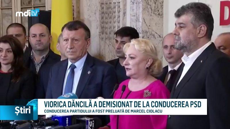 VIORICA DĂNCILĂ A DEMISIONAT DE LA CONDUCEREA PSD