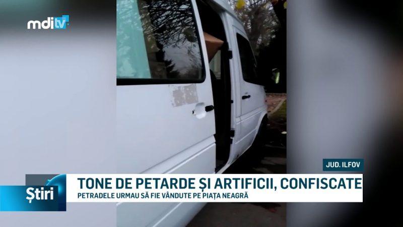 TONE DE PETARDE ȘI ARTIFICII, CONFISCATE