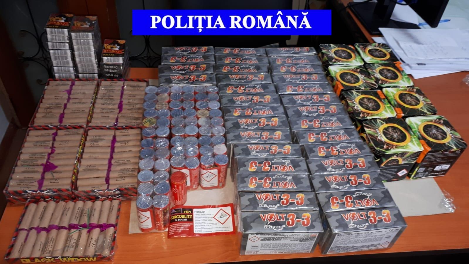 MII DE PETARDE CONFISCATE DE POLIȚIȘTII DIN DÂMBOVIȚA