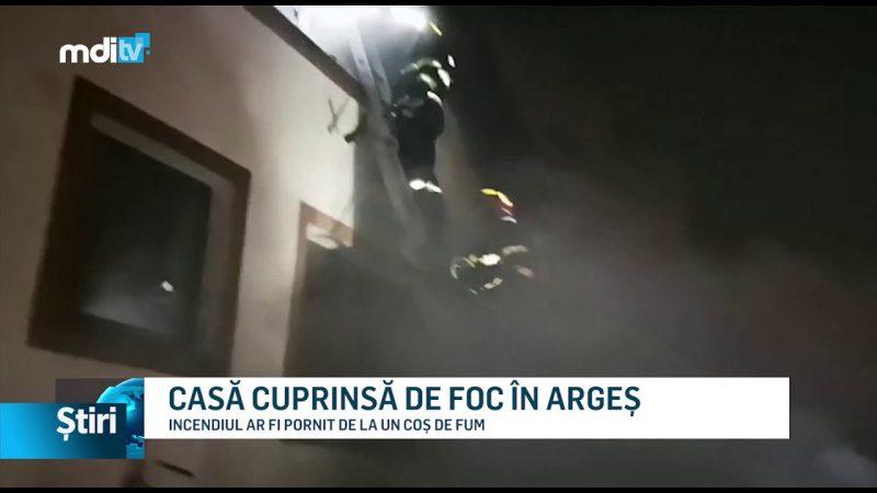 CASĂ CUPRINSĂ DE FOC ÎN ARGEȘ