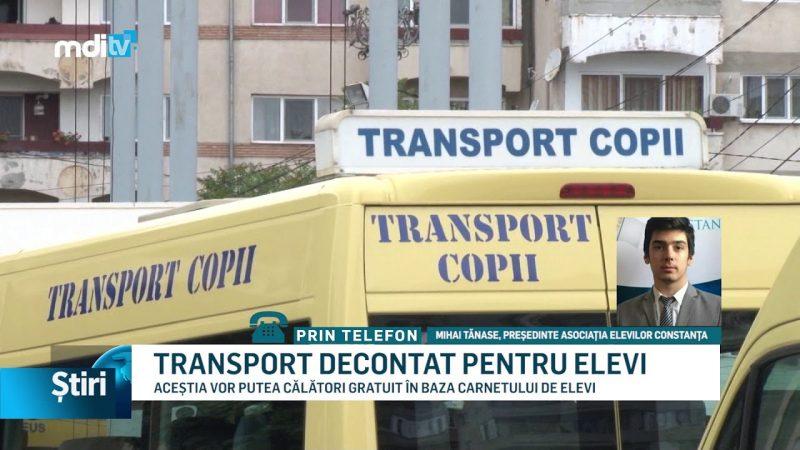 TRANSPORT DECONTAT PENTRU ELEVI