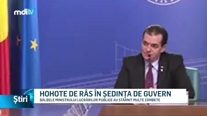 HOHOTE DE RÂS ÎN ȘEDINȚA DE GUVERN