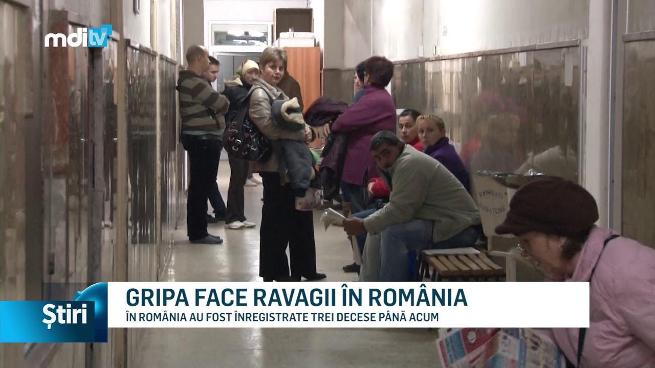 GRIPA FACE RAVAGII ÎN ROMÂNIA