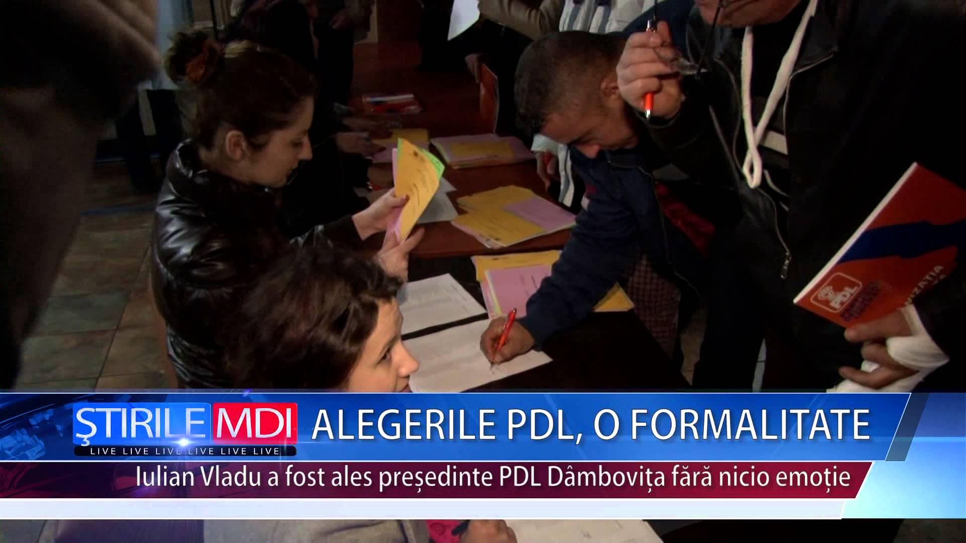 ALEGERILE PDL, O FORMALITATE