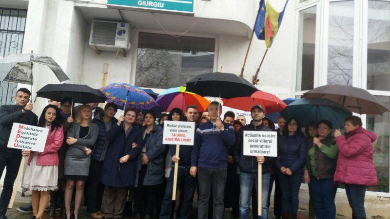 A.P.M. GIURGIU AMENINŢĂ CU PROTESTE