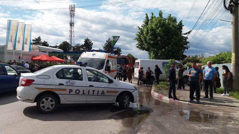 ACCIDENT CUMPLIT LA INTRAREA IN TARGOVISTE! VIDEO!