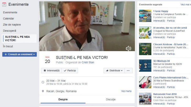 NEA VICTOR ESTE SUSȚINUT DE ELEVI