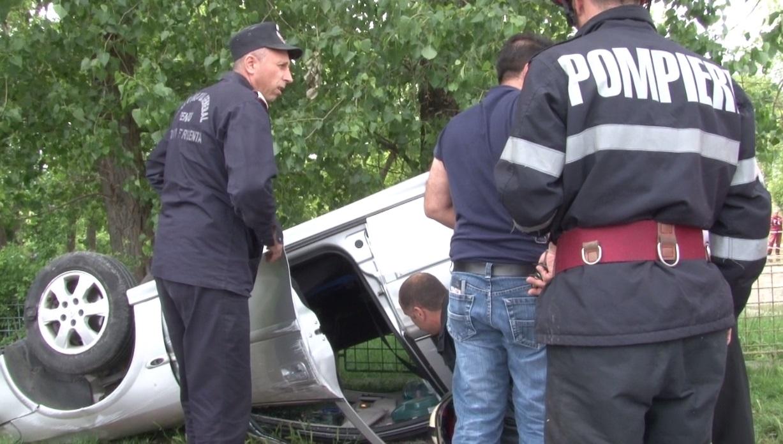 ACCIDENT SPECTACULOS LA IEȘIREA DIN TÂRGOVIȘTE