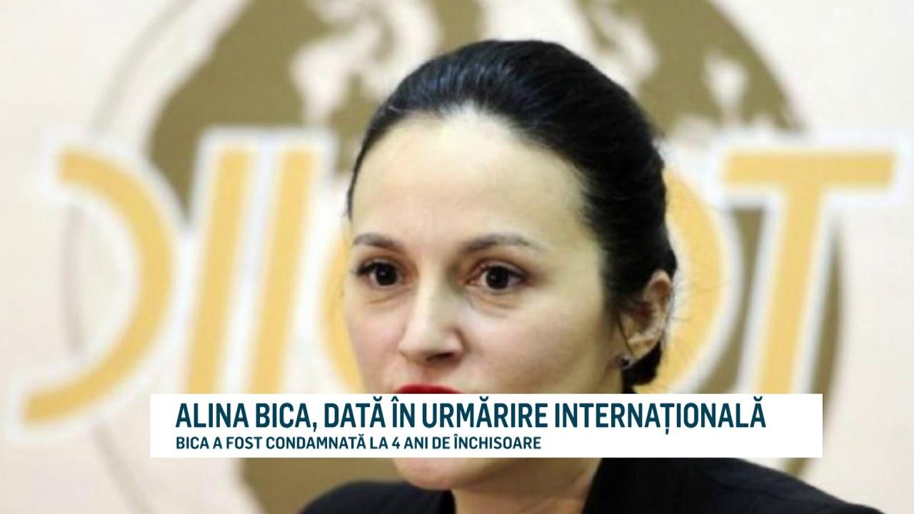 ALINA BICA, DATĂ ÎN URMĂRIRE INTERNAȚIONALĂ