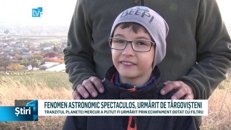 FENOMEN ASTRONOMIC SPECTACULOS, URMĂRIT DE TÂRGOVIȘTENI