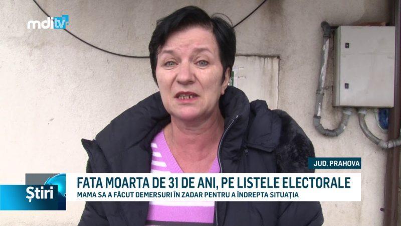 FATA MOARTA DE 31 DE ANI, PE LISTELE ELECTORALE