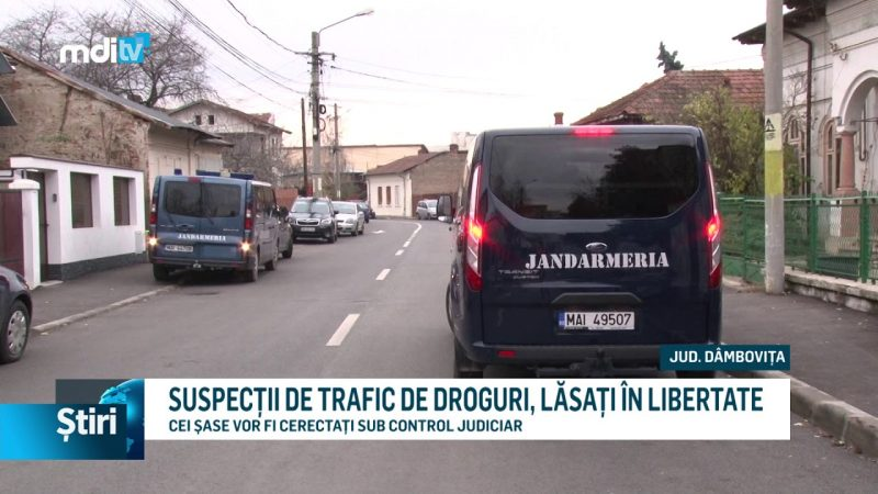 SUSPECȚII DE TRAFIC DE DROGURI, LĂSAȚI ÎN LIBERTATE
