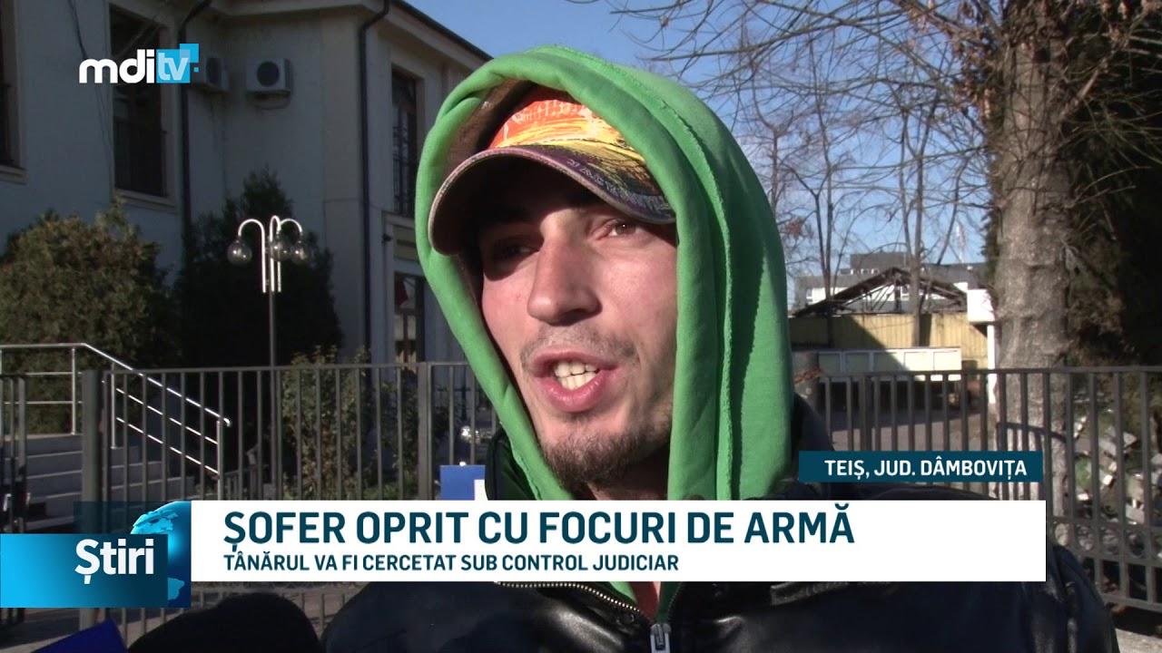 ȘOFER OPRIT CU FOCURI DE ARMĂ