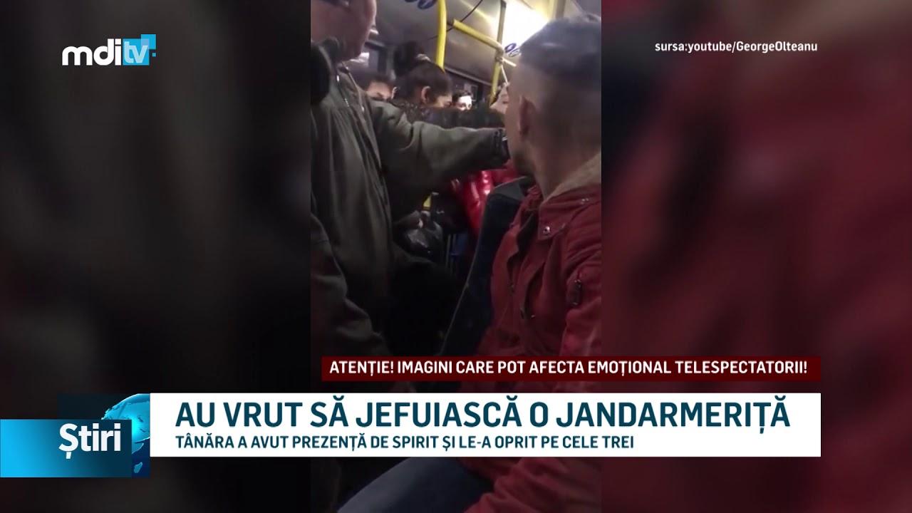 AU VRUT SĂ JEFUIASCĂ O JANDARMERIȚĂ