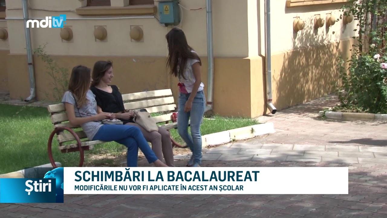 SCHIMBĂRI LA BACALAUREAT