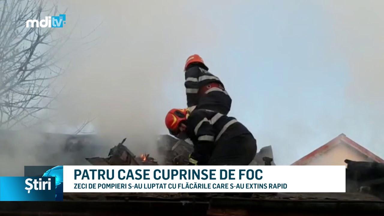 PATRU CASE CUPRINSE DE FOC