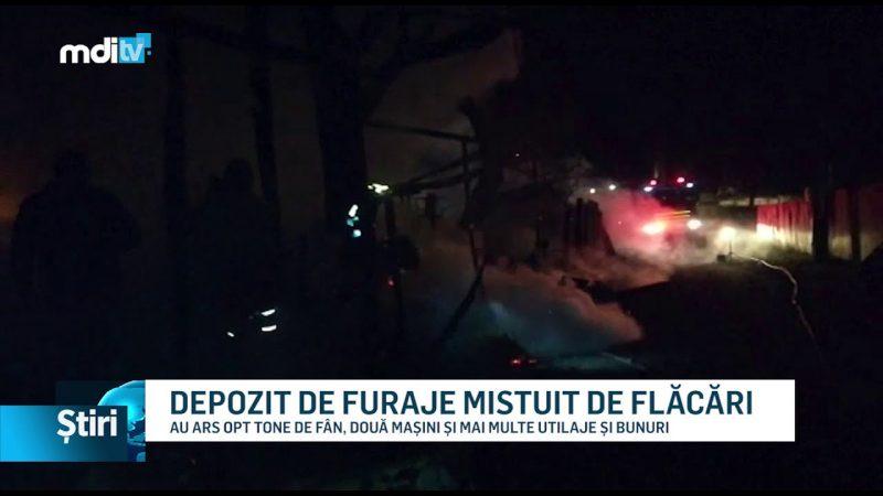 DEPOZIT DE FURAJE MISTUIT DE FLĂCĂRI