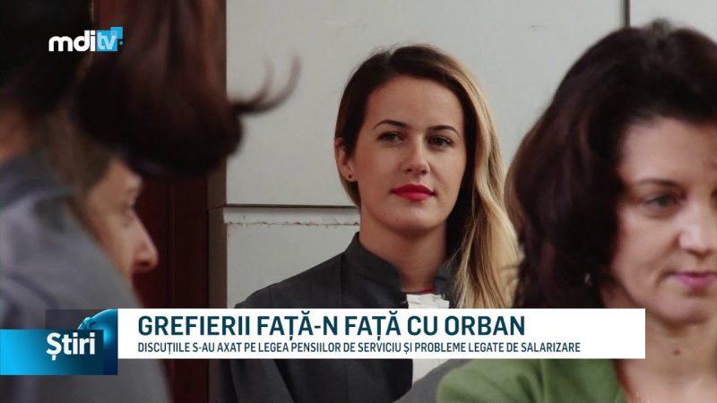 GREFIERII FAȚĂ-N FAȚĂ CU ORBAN