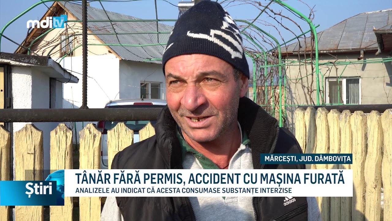 TÂNĂR FĂRĂ PERMIS, ACCIDENT CU MAȘINA FURATĂ