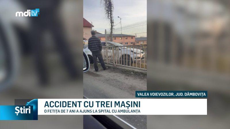 ACCIDENT CU TREI MAȘINI