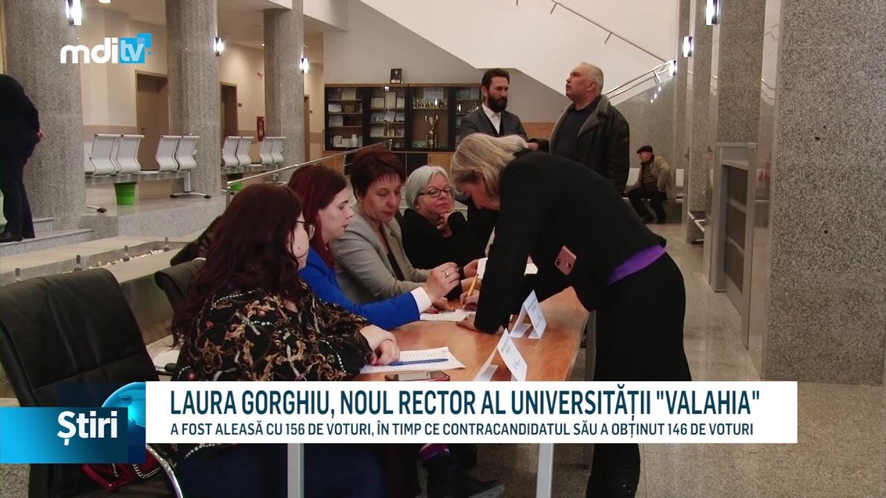 "LAURA GORGHIU, NOUL RECTOR AL UNIVERSITĂȚII ""VALAHIA"""