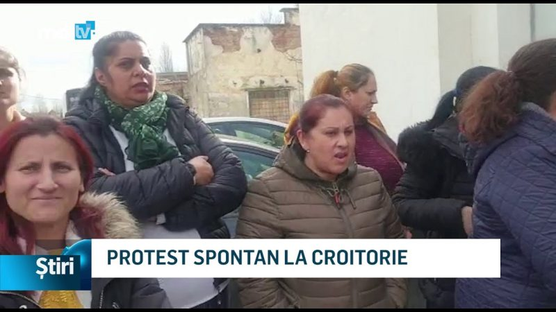 PROTEST SPONTAN LA CROITORIE
