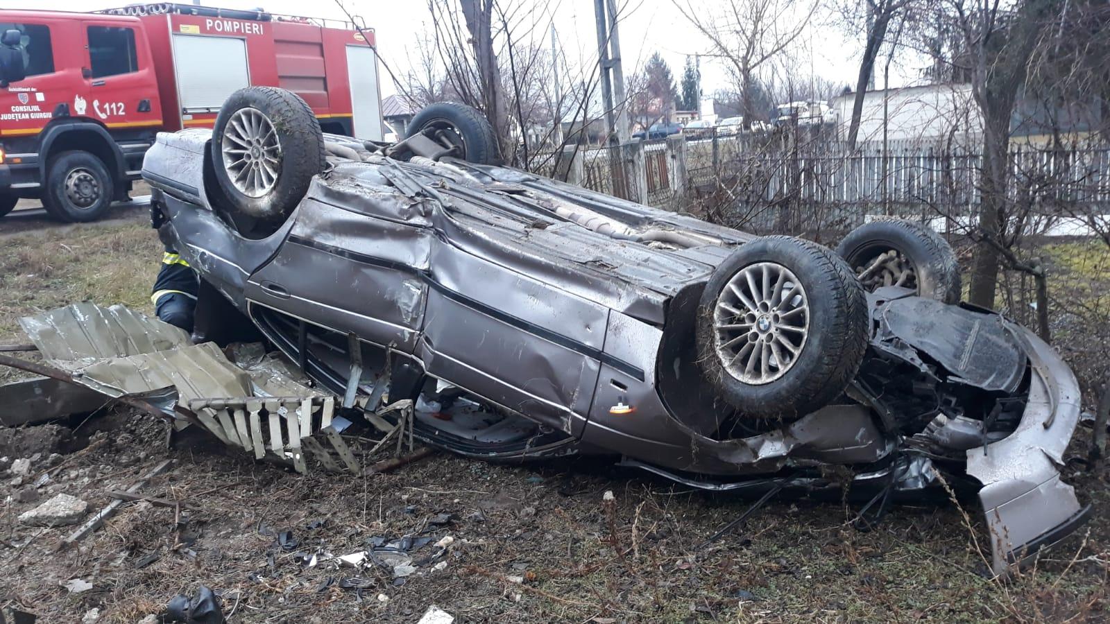 ACCIDENT GRAV PE DN6, ÎN GIURGIU