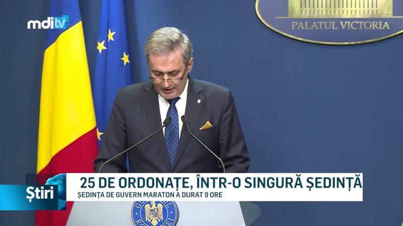 25 DE ORDONAȚE, ÎNTR-O SINGURĂ ȘEDINȚĂ