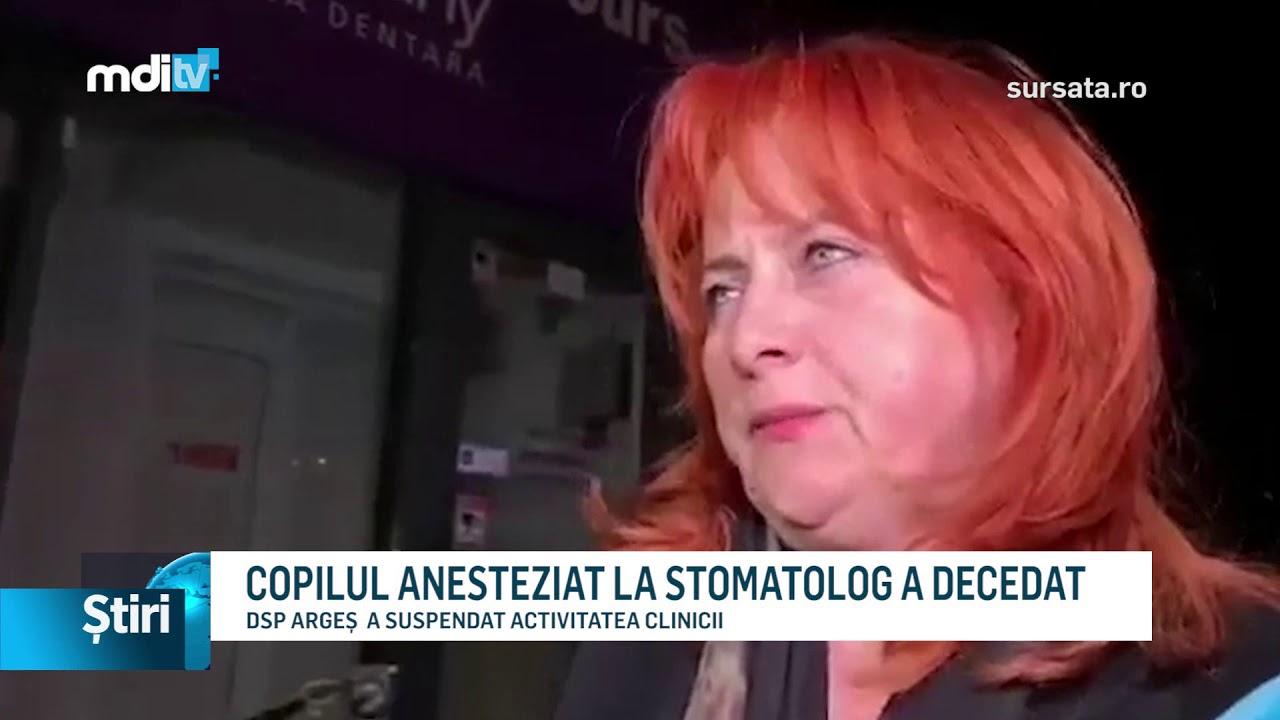 COPILUL ANESTEZIAT LA STOMATOLOG A DECEDAT