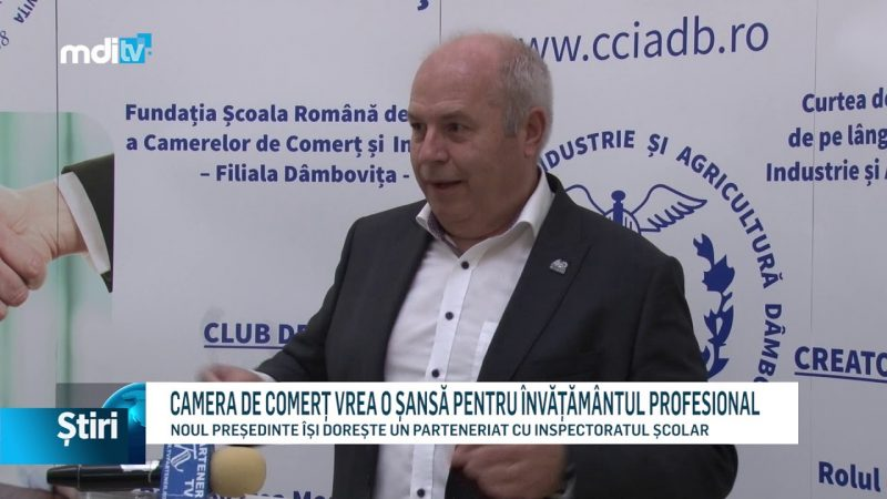 CAMERA DE COMERȚ VREA O ȘANSĂ PENTRU ÎNVĂȚĂMÂNTUL PROFESIONAL