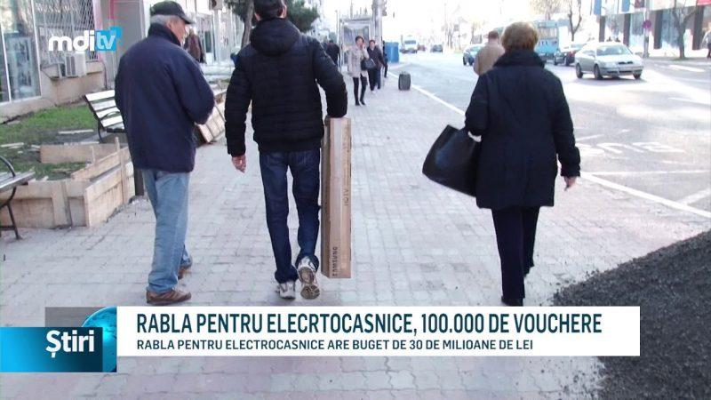 RABLA PENTRU ELECRTOCASNICE, 100.000 DE VOUCHERE
