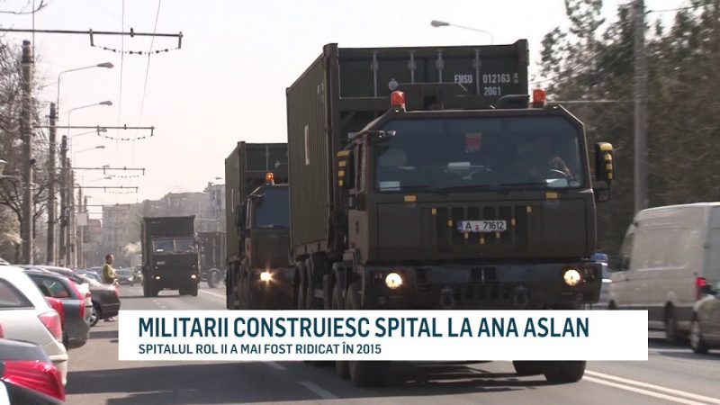 MILITARII CONSTRUIESC SPITAL LA ANA ASLAN