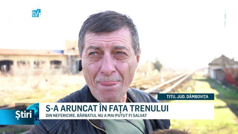 S-A ARUNCAT ÎN FAȚA TRENULUI