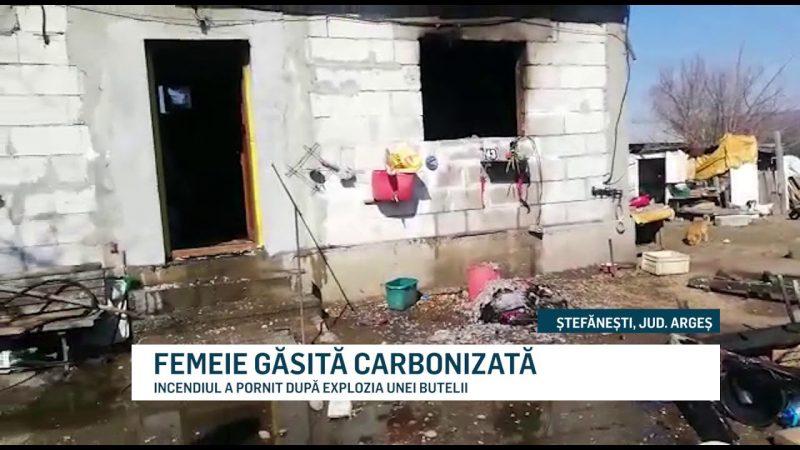 FEMEIE GĂSITĂ CARBONIZATĂ