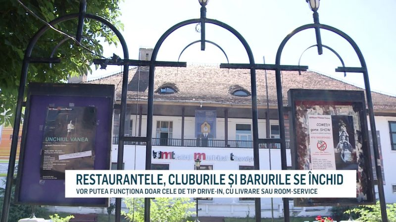 RESTAURANTELE, CLUBURILE ȘI BARURILE SE ÎNCHID