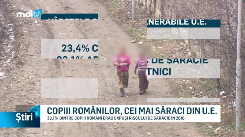 COPIII ROMÂNILOR, CEI MAI SĂRACI DIN U.E.