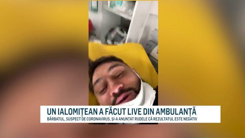 UN IALOMIȚEAN A FĂCUT LIVE DIN AMBULANȚĂ