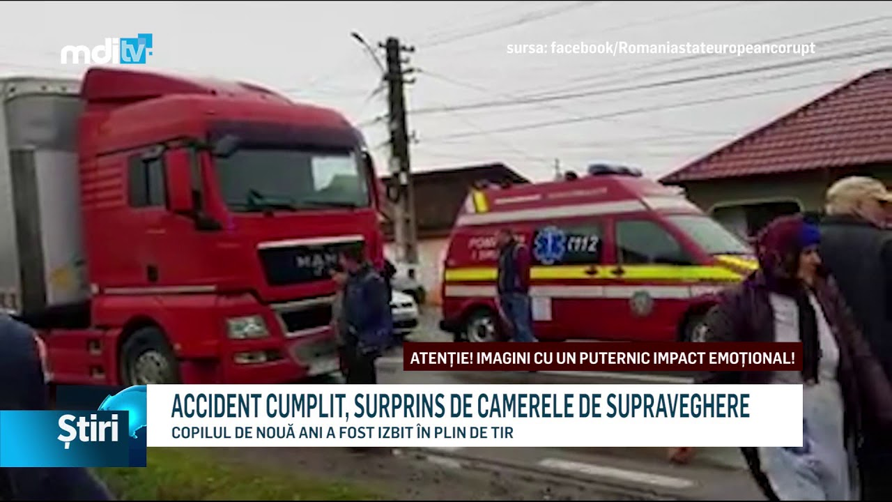 ACCIDENT CUMPLIT, SURPRINS DE CAMERELE DE SUPRAVEGHERE