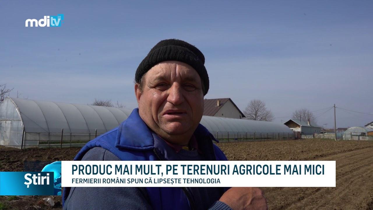 PRODUC MAI MULT, PE TERENURI AGRICOLE MAI MICI