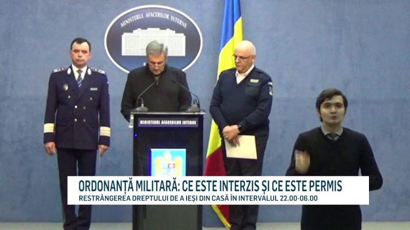 ORDONANȚĂ MILITARĂ: CE ESTE INTERZIS ȘI CE ESTE PERMIS