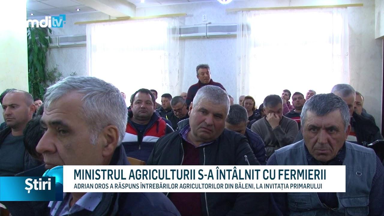 MINISTRUL AGRICULTURII S-A ÎNTÂLNIT CU FERMIERII